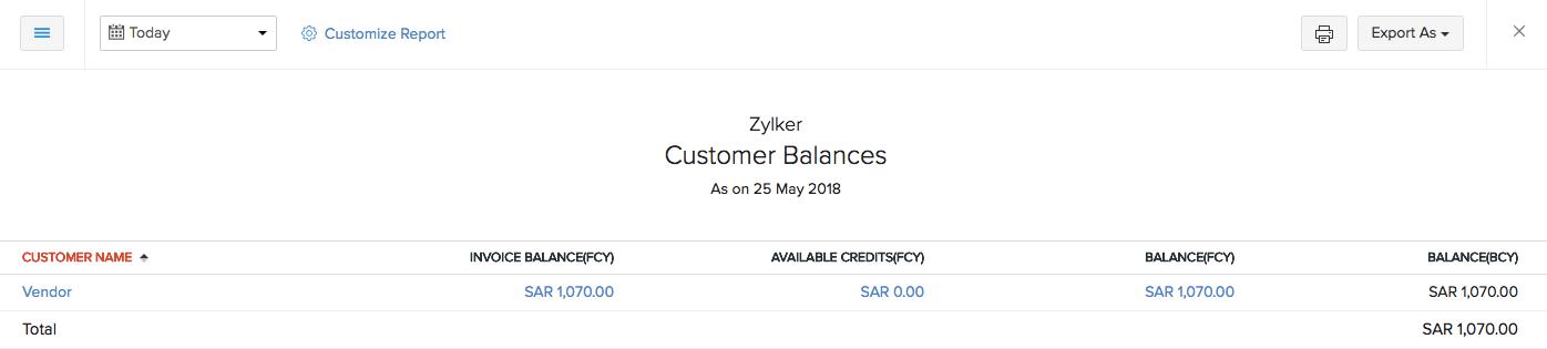 Customer Balances