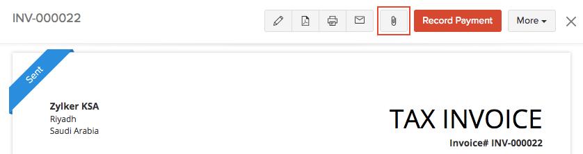 Attach Files To invoice
