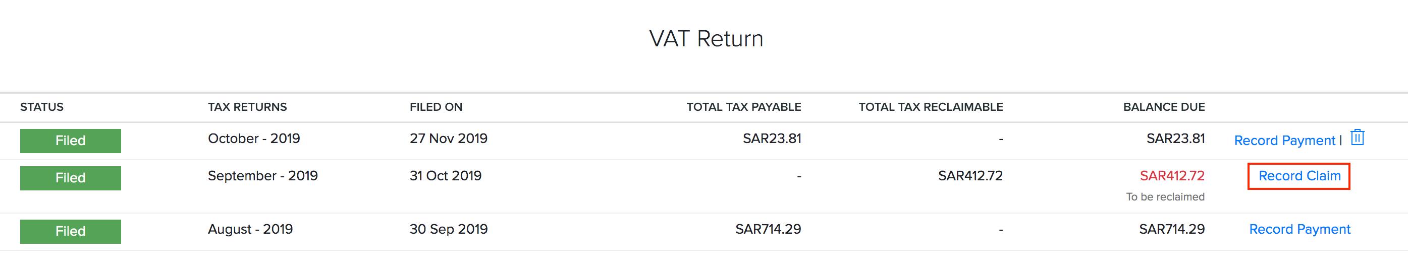 Reports tax claim