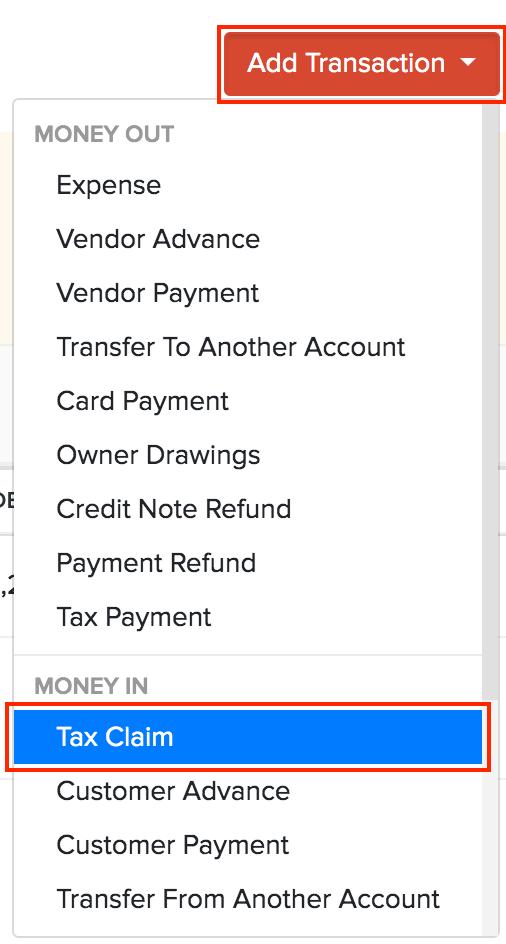 Banking Tax claim
