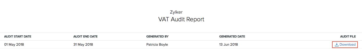 Vat Audit Report