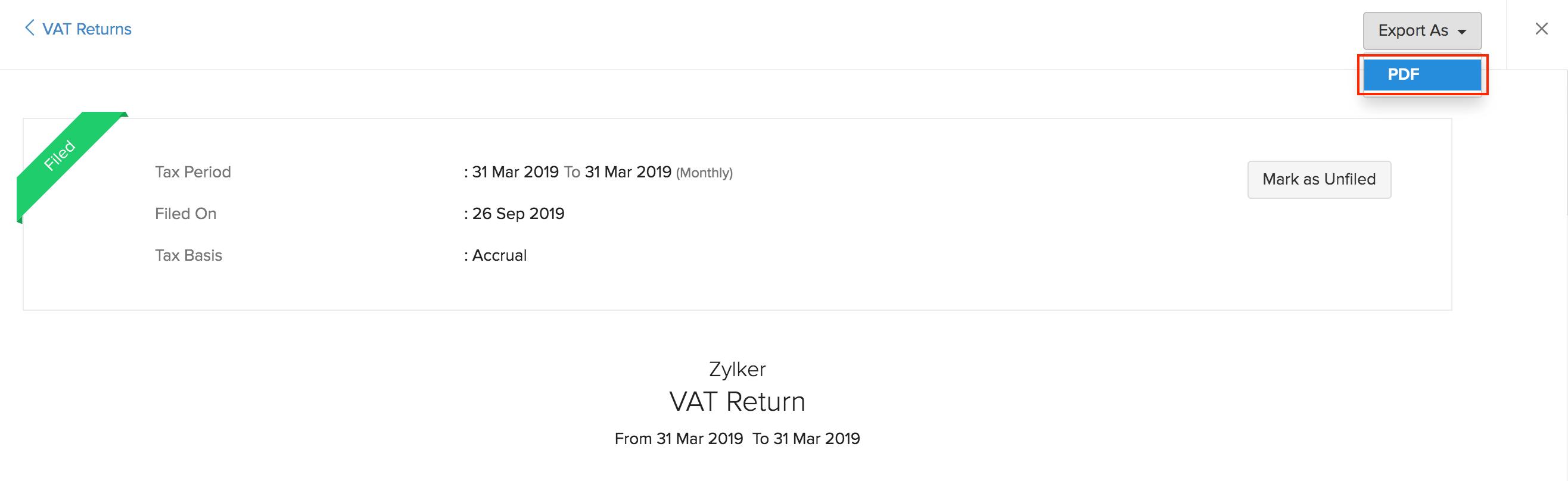 Vat Return PDF