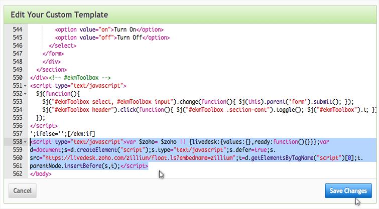 Integrate Zoho SalesIQ with Ekmpowershop plugin
