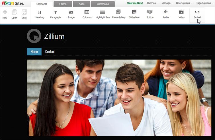 Integrate Live Chat with Zoho Sites - Zoho SalesIQ
