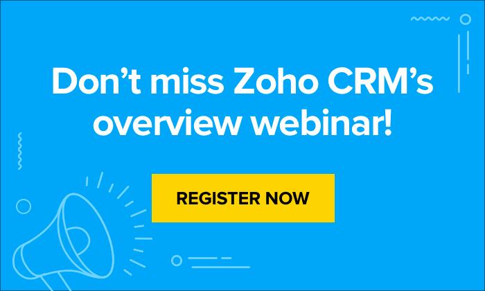 Sales CRM | Customer Relationship Management System - Zoho CRM