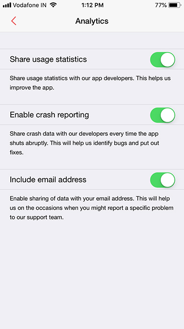 Survey iOS app data permissions