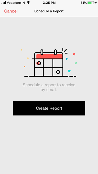 Zoho Survey iOS app schedule report
