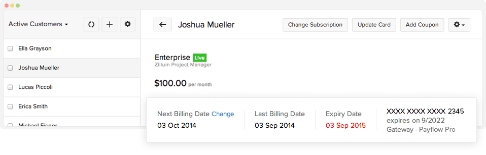 Automated Subscription billing - Zoho Subscriptions