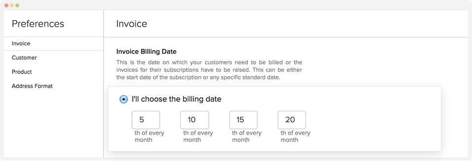 Invoice billing - Zoho Subscriptions