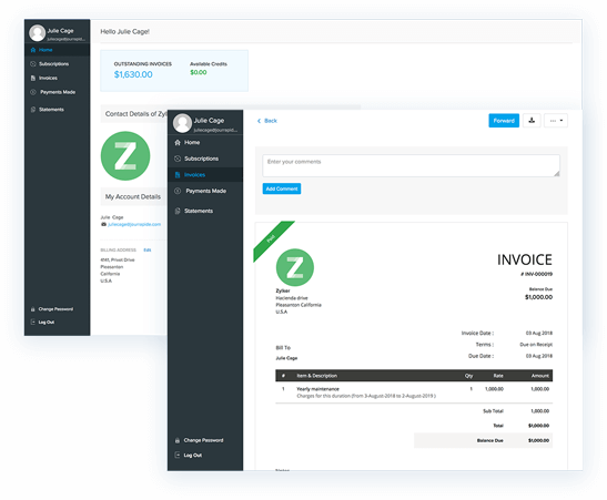 Personalize the customer portal