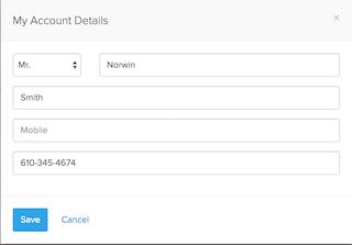 Client's account details 2