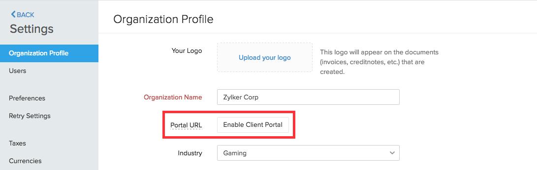 Enabling Client Portal