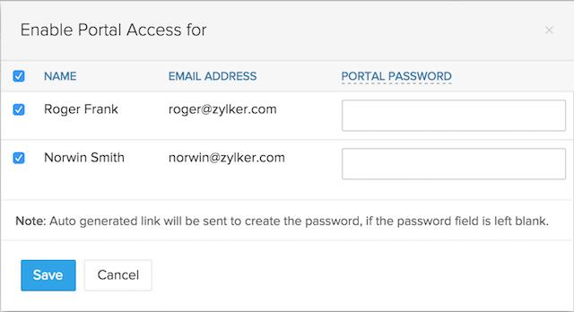 Enable Portal Access Popup