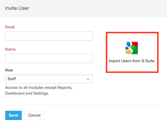 Invite Users G Suite