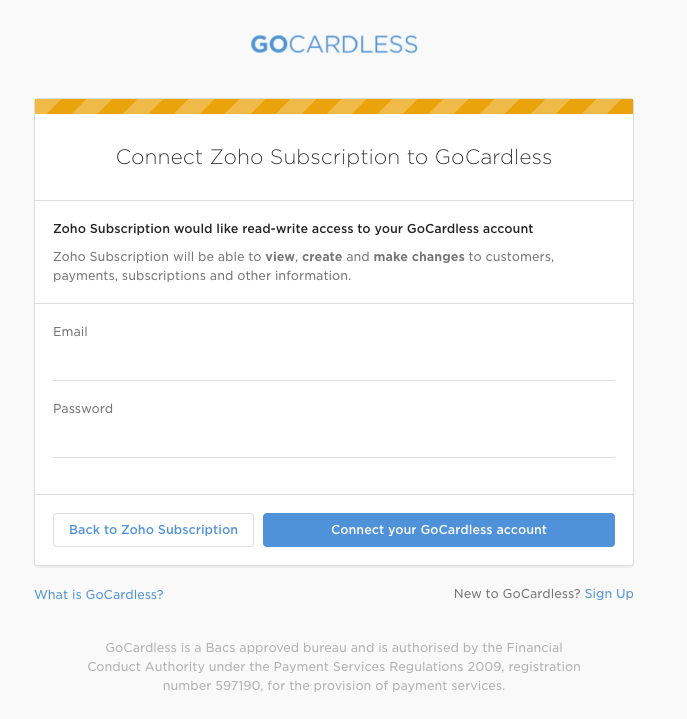 GoCardless Login