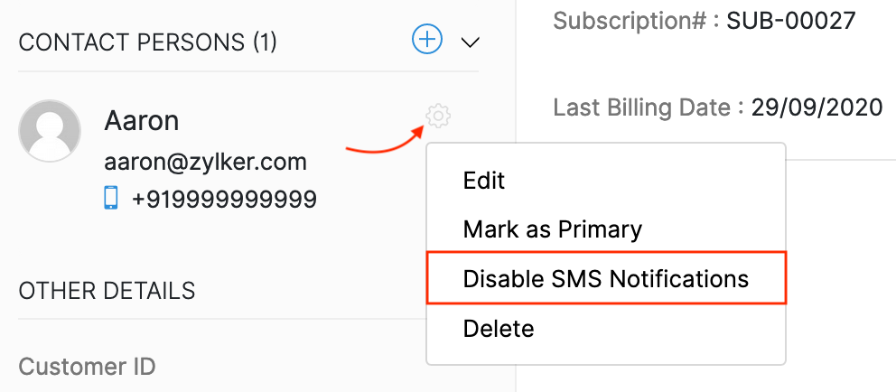 Twilio Contact Person Preferences