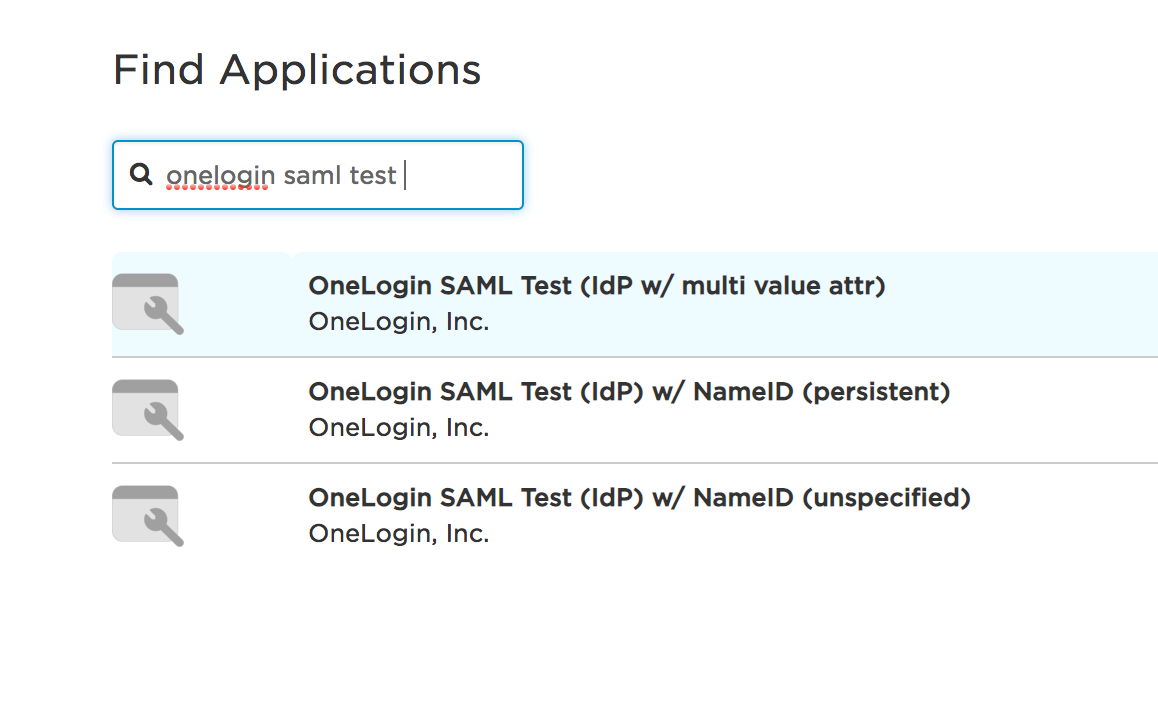 SSO OneLogin SAML test app