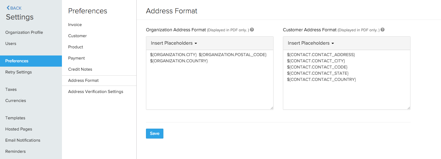 Address Format