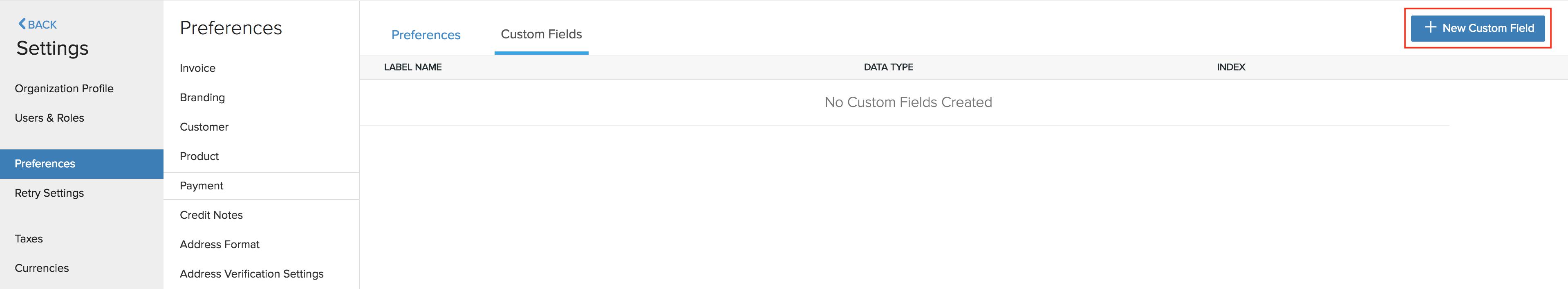 Payment Custom Field 1