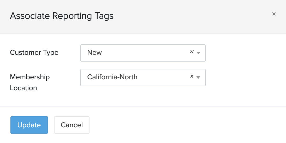 Associate Reporting Tags