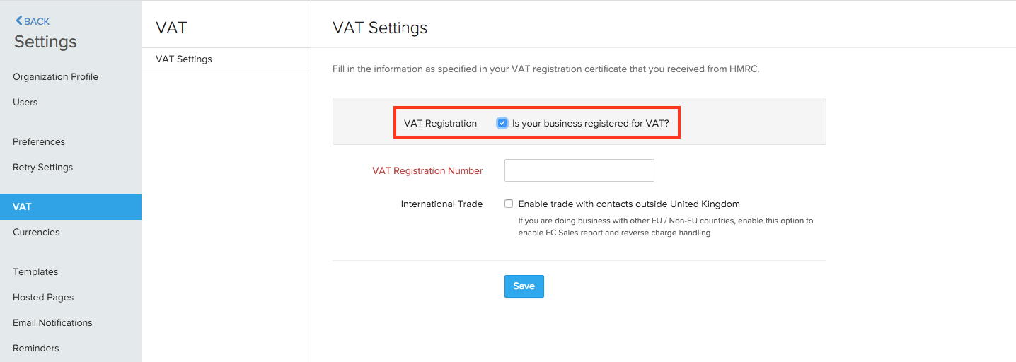Enabling VAT