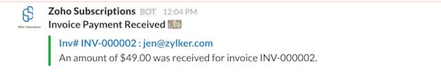 Invoice Payment Success