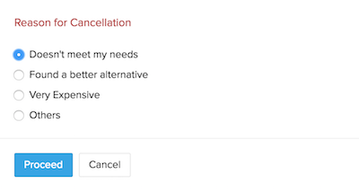 Cancel subscription reason