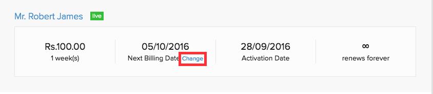 Change next renewal date