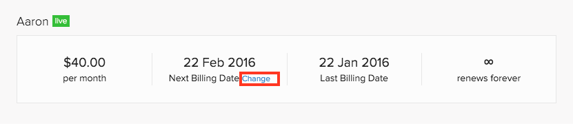 Change next renewal date