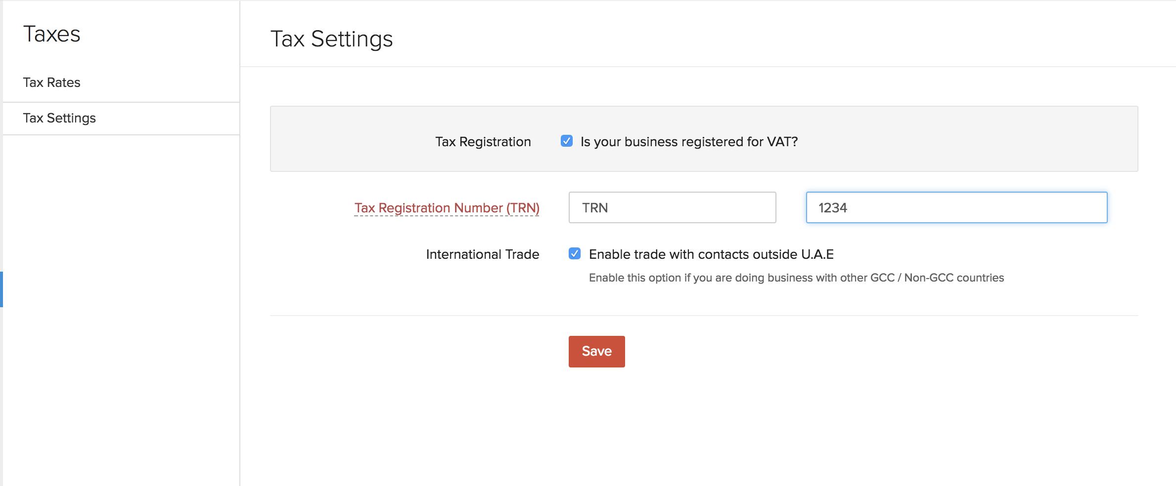 Update VAT Settings