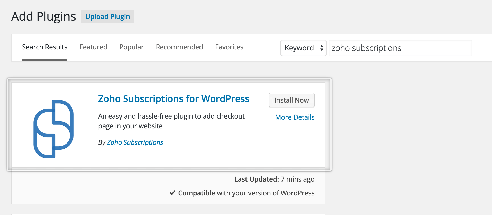 zoho crm wordpress