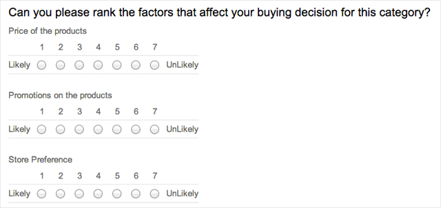 Multiple question types to choose from for your survey for 10 point likert scale template