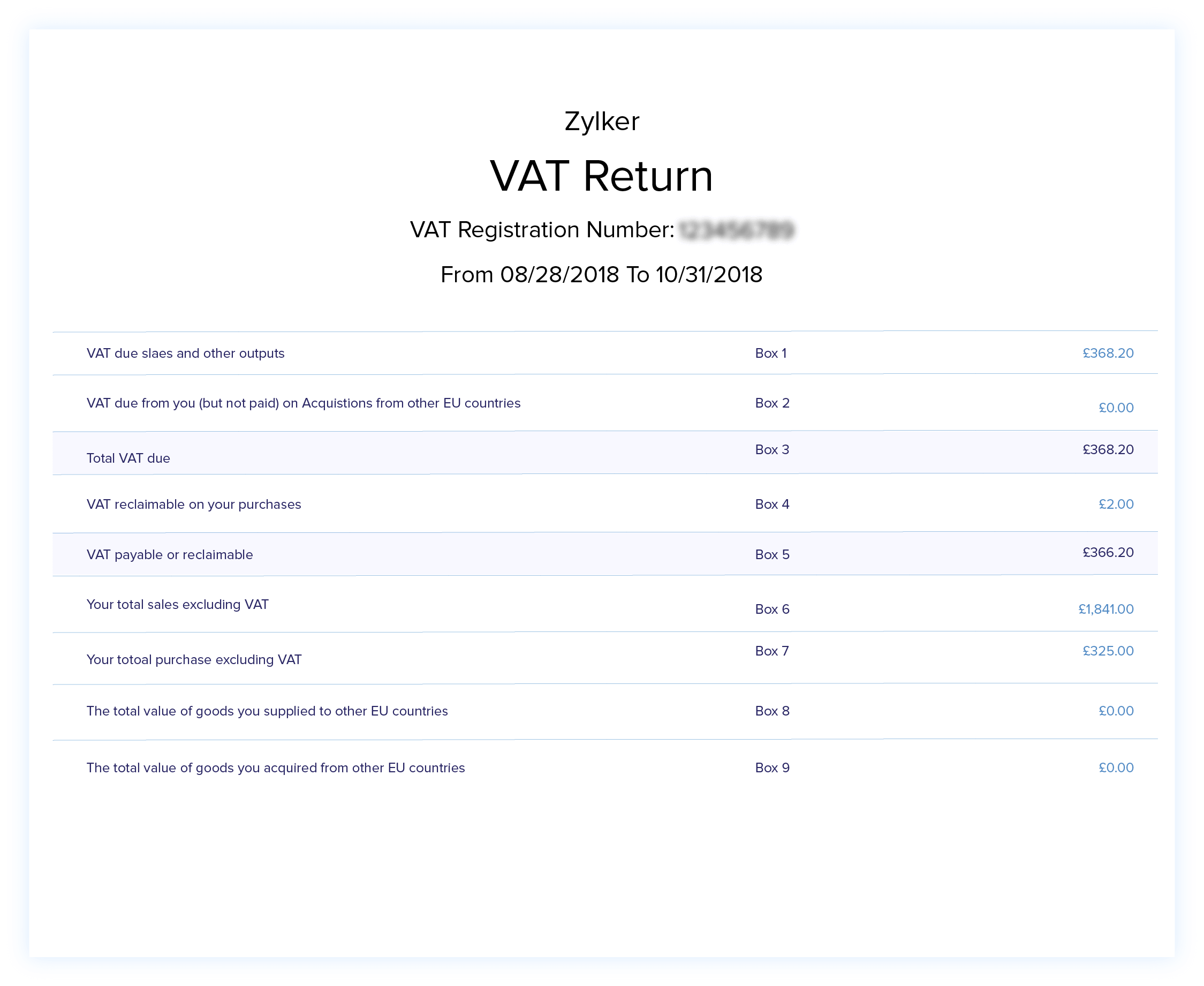 VAT Liability - VAT Reporting - VAT Accounting Software | Zoho Books