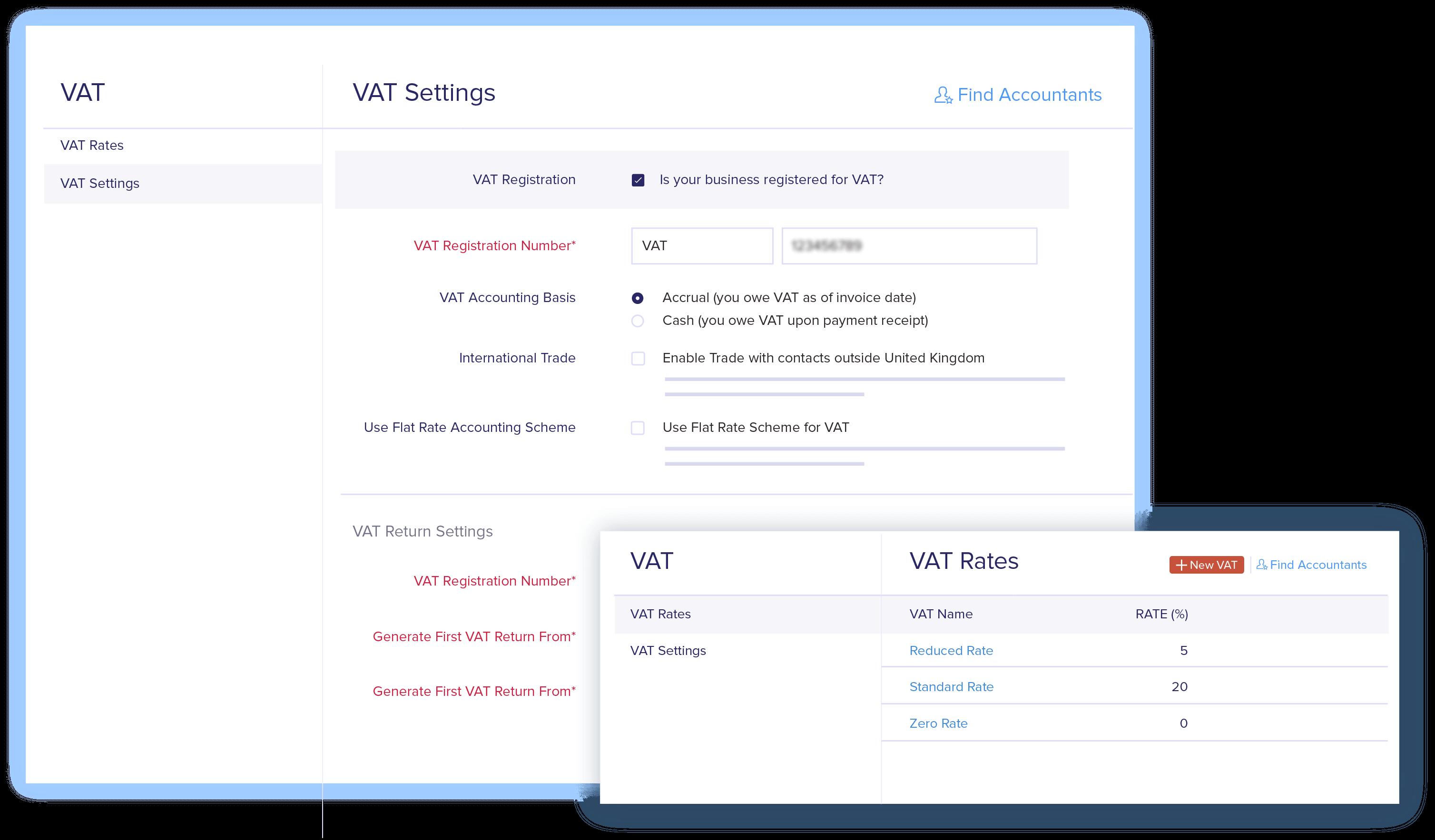 VAT Set up - VAT Accounting Software | Zoho Books