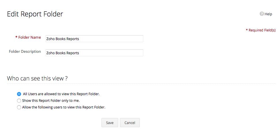 Edit Report