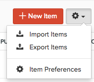 Items Import