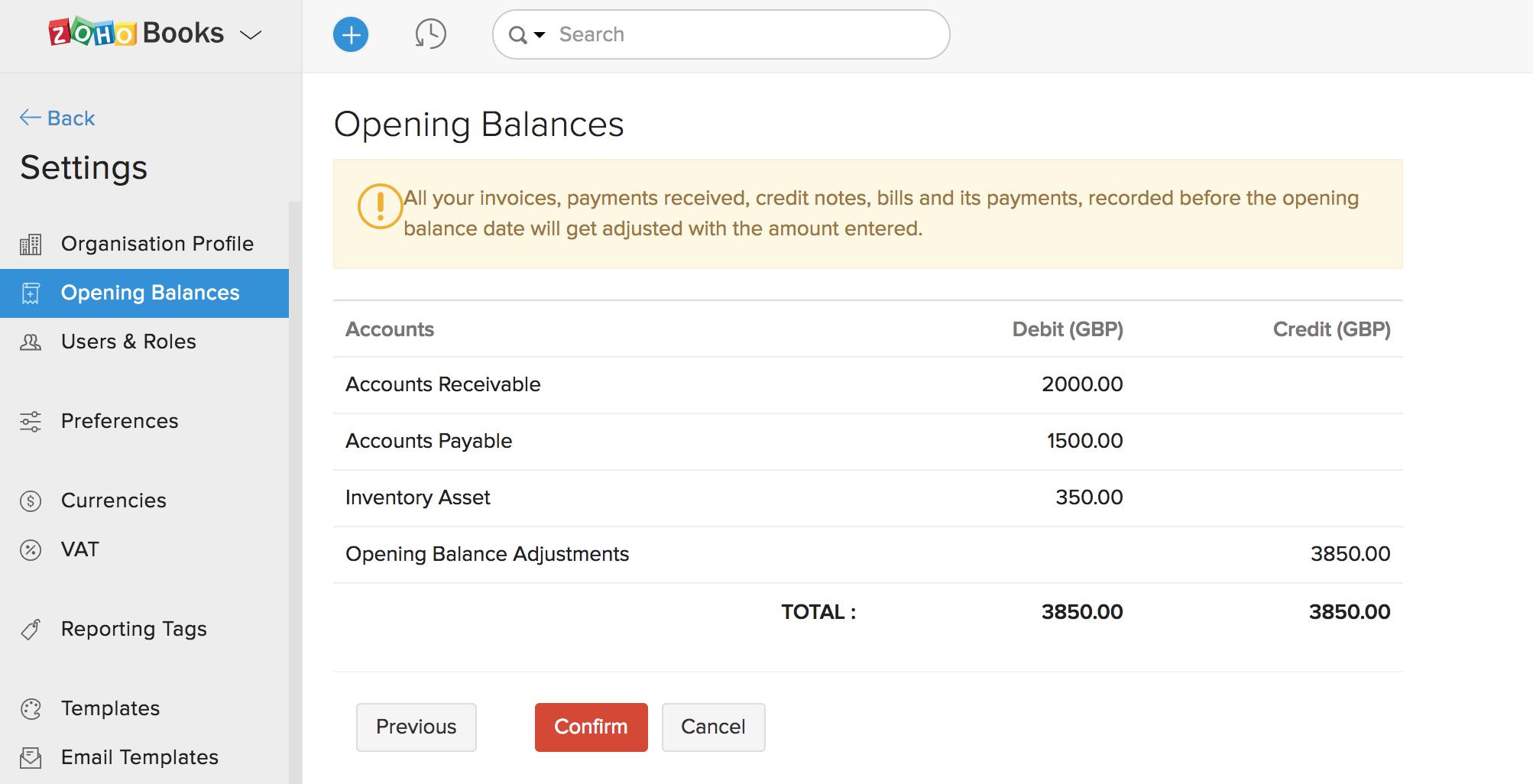 Opening Balances Image