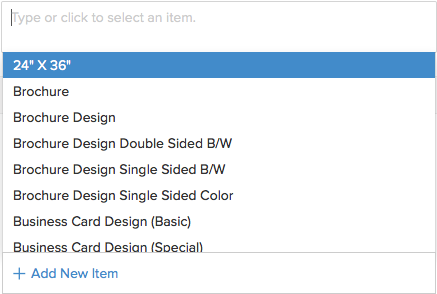 Items in sales order