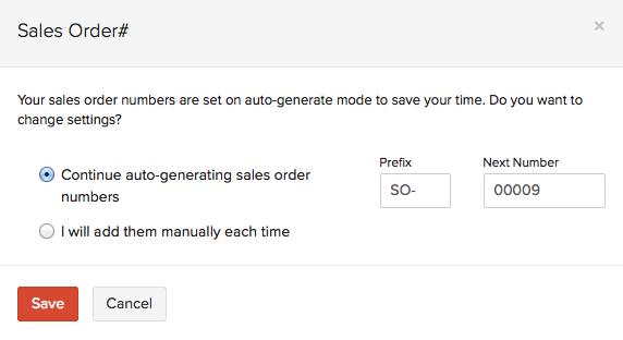 Sales order  - new number