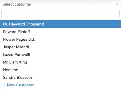 Sales order  - Select customer