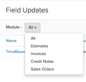 Filter Field Update