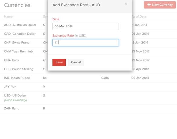 Adding exchange rate