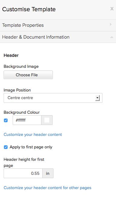 Header & Document Info