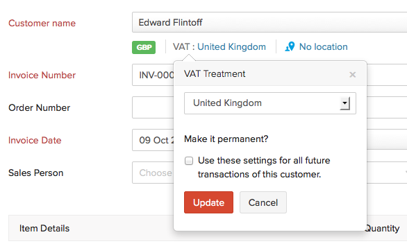 Updating VAT Treatment