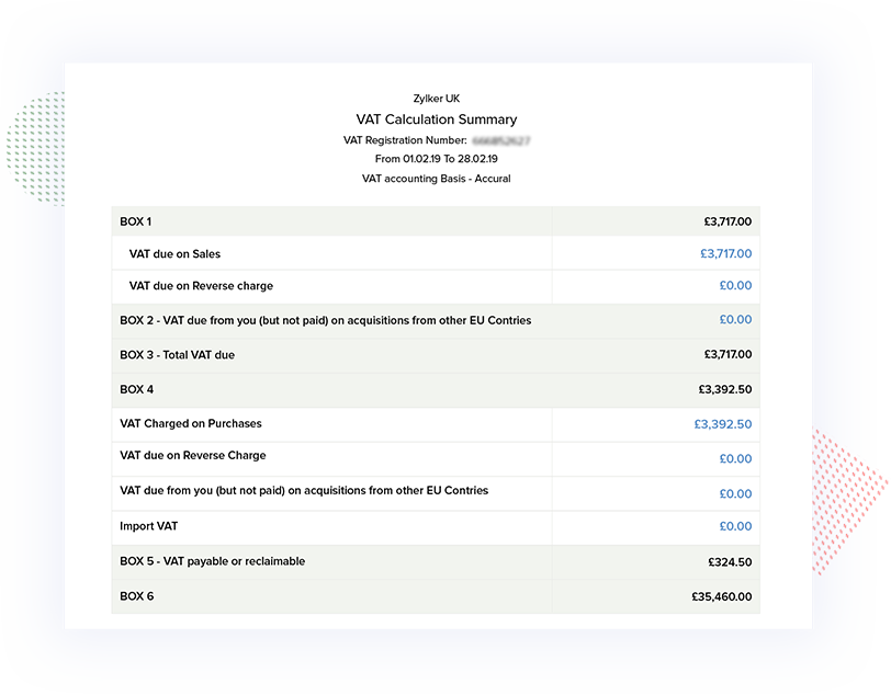 VAT Reports Computation- Making Tax Digital Accounting Software   Zoho Books