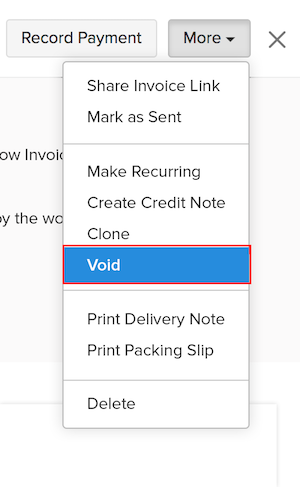 Void an invoice