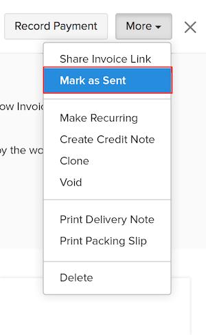 Mark an invoice as sent