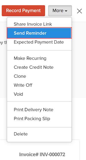 Send Payment Reminder