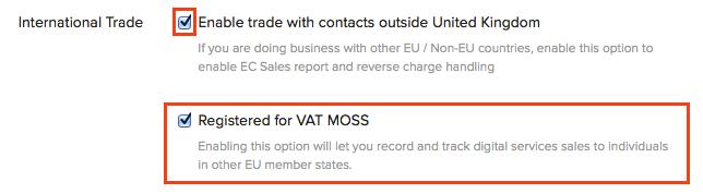 Enable VAT MOSS