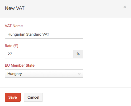Add a New Member Country VAT Rate
